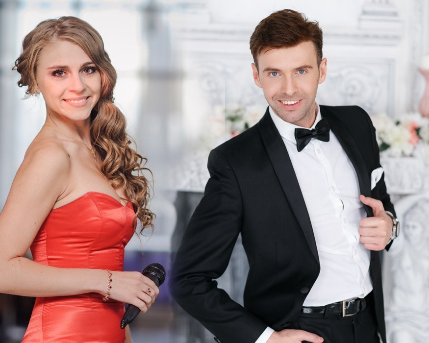 Ведущий на корпоратив - Дуэт ведущих + Живой вокал Валерий и Татьяна